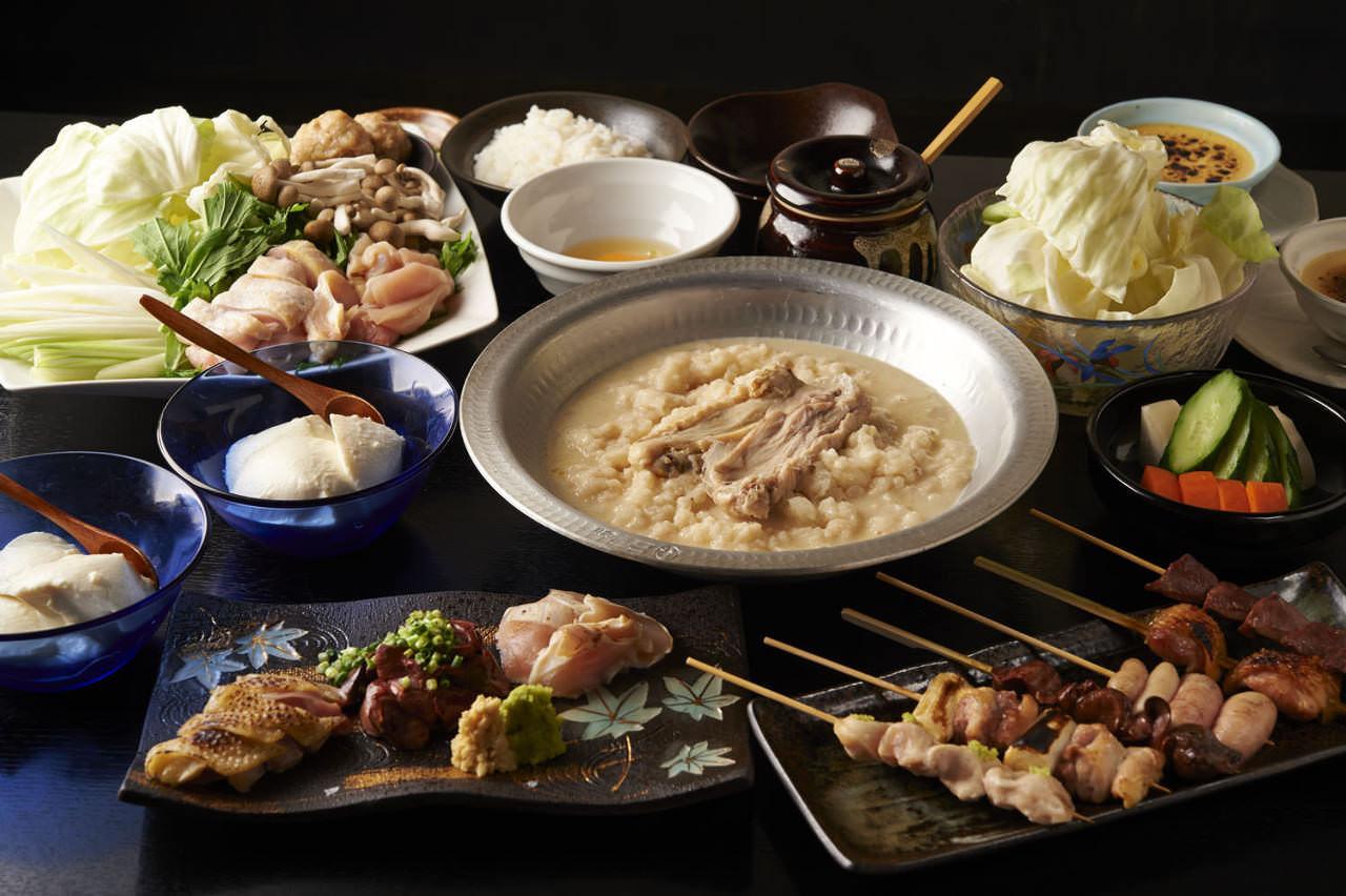 とりいちず酒場 六本木店の鶏料理が満喫できるコース