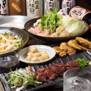 とりいちず酒場 六本木店の鶏料理もお酒もしっかり楽しめるコース